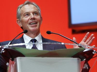 Tony Blair, este jueves en Madrid.
