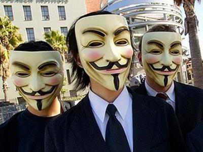 Activistas de Anonymous. EFE