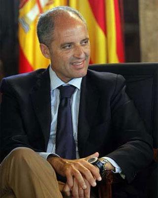 El presidente de la Generalitat Valenciana Francisco Camps. -