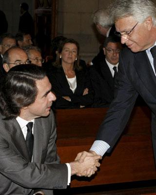Aznar y González, en el funeral de Calvo-Sotelo. efe