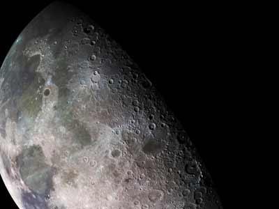 Los mares de la Luna.
