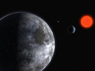 El sistema Gliese 581 es candidato a albergar vida.