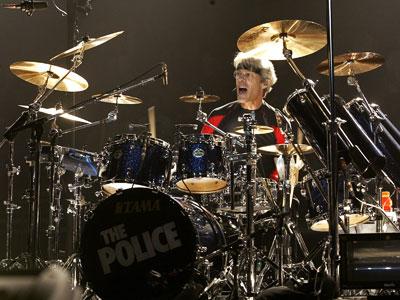 El batería de The Police, Stewart Copeland, en un concierto en Vancouver en 2007. ap
