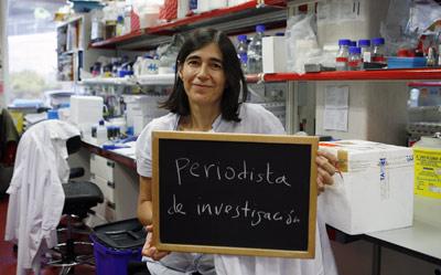 La bióloga molecular María Blasco, en su laboratorio del CNIO. GRACIELA DEL RÍO