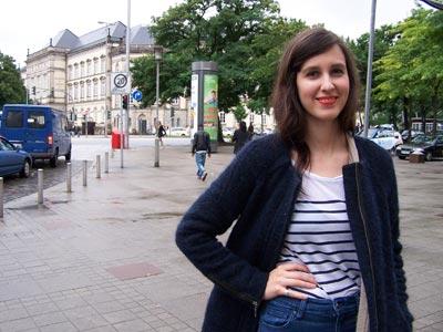 Miriam Ugarte, de 26 años, vive en Berlín desde diciembre de 2008.