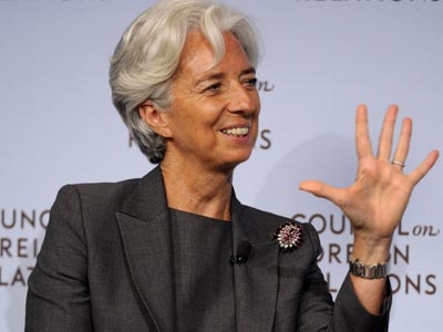 La directora gerente del Fondo Monetario Internacional (FMI), Christine Lagarde. AFP PHOTO