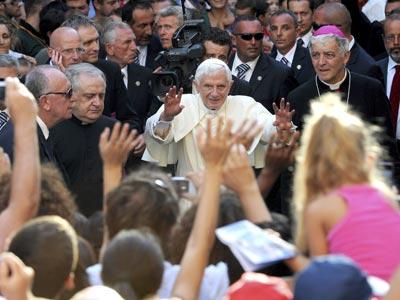 El papa, el 11 de septiembre a Ancona (Italia). efe