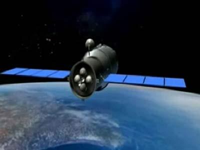 Recreación del módulo Tiangong-1. reuters