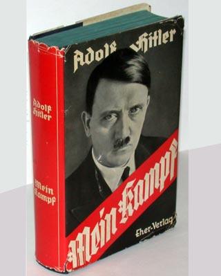 Ejemplar de 'Mi lucha' de Adolf Hitler.