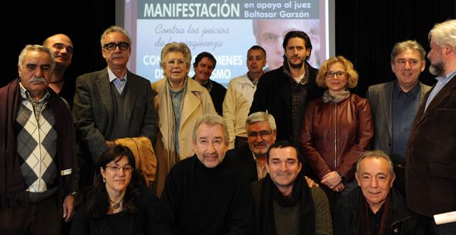 Presentación en el Ateneo de Madrid de la manifestación del domingo 29 en apoyo al juez Garzón.