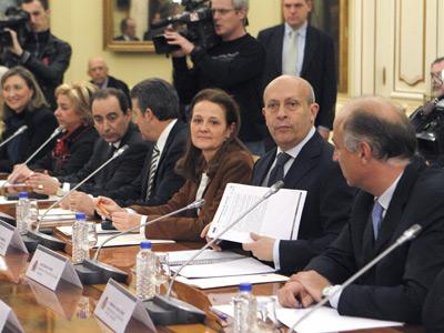 El ministro de Educación, José Ignacio Wert, mantuvo ayer su primera reunión con los consejeros en la conferencia sectorial.-EFE