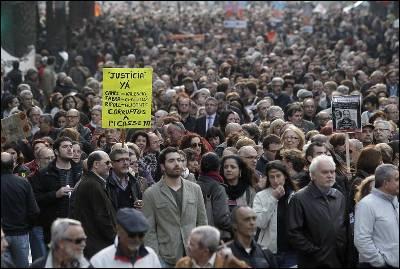 Manifestación en Valencia contra los casos de corrupción destapados en la comunidad.JUAN NAVARRO
