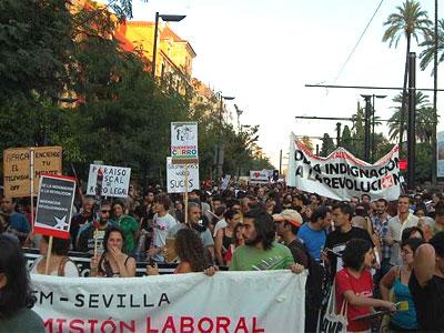 Indignados durante la manifestación del pasado 15 de octubre - EP