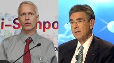 Los científicos estadounidenses Brian Kobilka y Robert Lefkowitz.