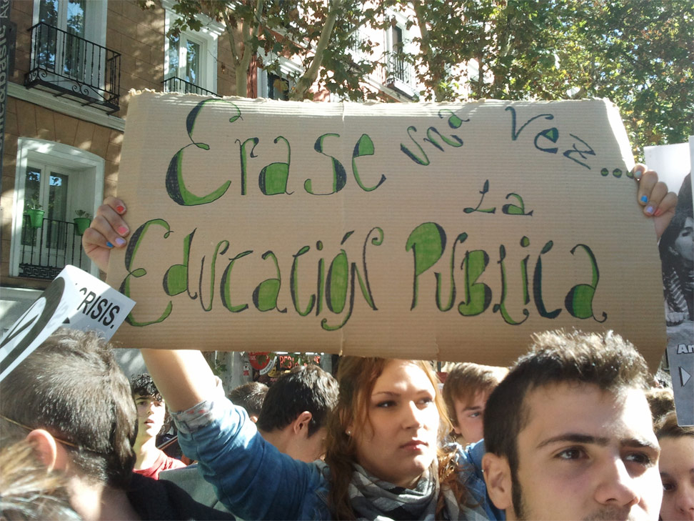 Los estudiantes plantan cara en Madrid a los recortes y la reforma Wert. Anna Flotats.