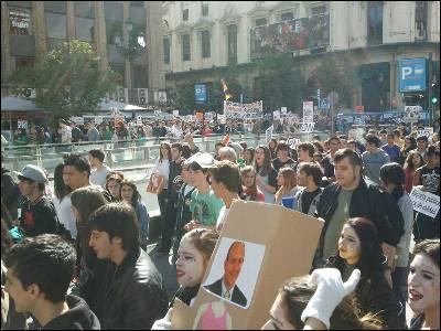 Los estudiantes plantan cara en Madrid a los recortes y la reforma Wert. A. F.