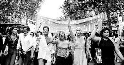 Primera manifestación de lesbianas en España.