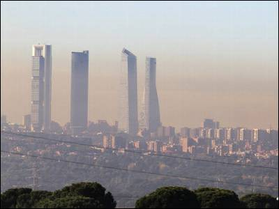 El aire contaminado de Madrid.