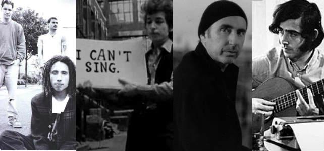 Rage Against de Machine, Bob Dylan, Lluis Llach y Joan Manuel Serrat.