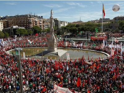 Imagen de la última movilización convocada por los sindicatos el pasado 15 de septiembre.