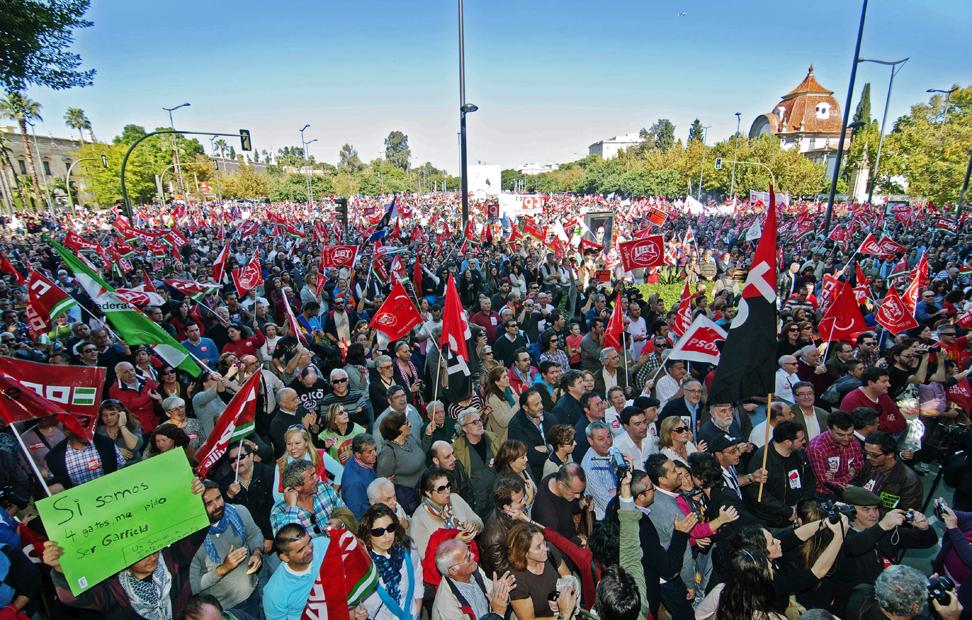 Imagen de la manifestación en Sevilla.