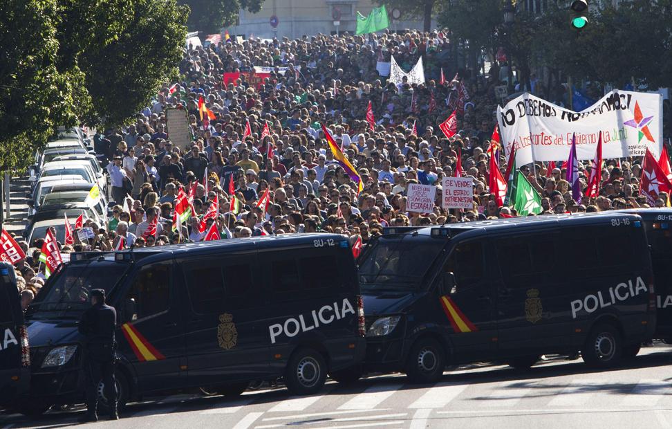 Manifestación en Cádiz.