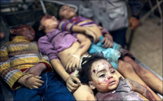 Los ataques aéreos israelíes están golpeando indiscriminadamente a los niños de Gaza. Reuters