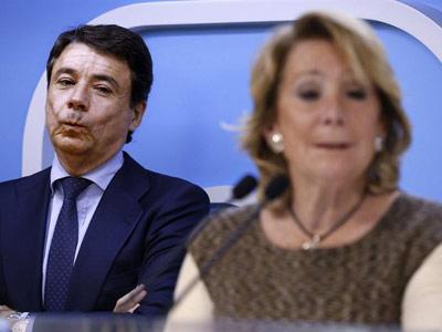 El presidente de la Comunidad de Madrid, Ignacio González, y su antecesora, Esperanza Aguirre, en una foto de archivo.