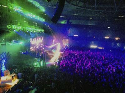 Fiesta en el Madrid Arena. EFE.