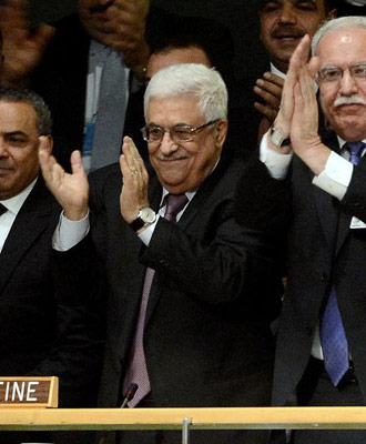 El presidente de la ANP celebra la votación de la ONU. EFE