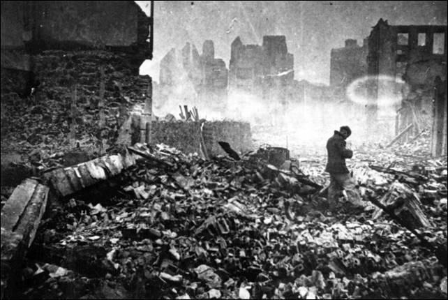 Gernika tras el bombardeo. Centro de Documentacón sobre el Bombardeo de Gernika. Fundación Museo de la Pazde Gernika'