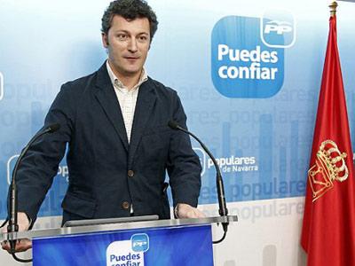 El diputado del PP de Navarra, Santiago Cervera, durante un acto de campaña en mayo de 2011.