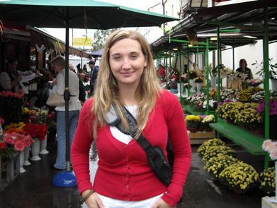 Estela Mendo, despedida por secundar la huelga del 14 de noviembre en una imagen cedida.