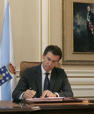 El presidente de la Xunta de Galicia, Alberto Núñez Feijóo, ha sido el primero en pedir la 'regeneración' del PP. Foto de archivo. EFE