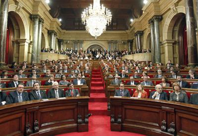 El Pleno del Parlament de Catalunya, el día de su constitución.