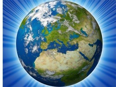La Tierra, vista en positivo.