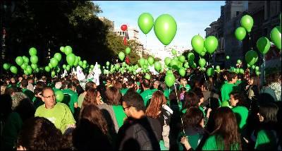 Marea verde en Madrid. EFE