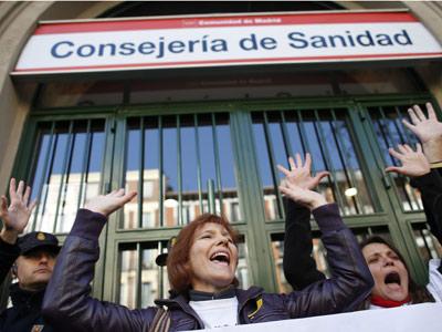 Concentración frente a la Dirección General de Recursos Humanos de la Consejería de Sanidad.