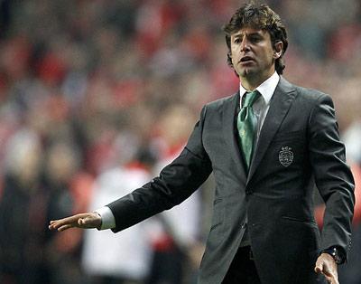 Domingos Paciencia en un partido del Sporting de Portugal.