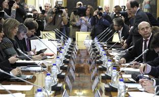 El ministro de Educación, José Ignacio Wert, en su reunión con los consejeros autonómicos.