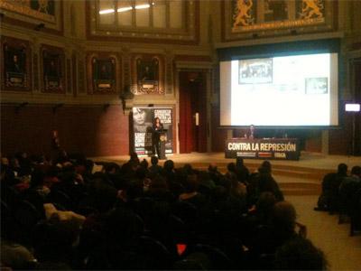 Presentación del Congreso en el salón de actos del Ateneo. @Antirepresion