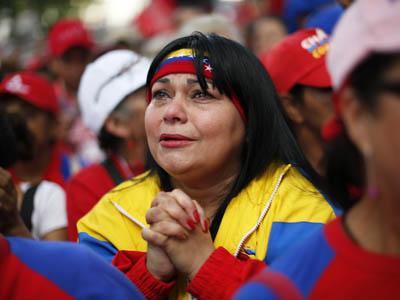 Simpatizantes de Hugo Chávez.