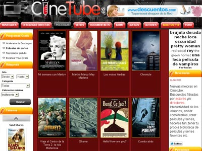 La página web de 'streaming' Cinetube.