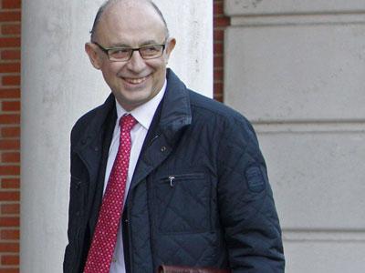 El ministro de Hacienda, Cristóbal Montoro, en La Moncloa.