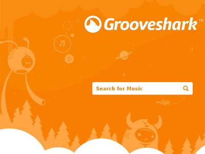 Web de Grooveshark.