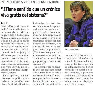 La página de 'Diario Médico' de la que se hizo eco 'Público' a la hora de recoger las palabras de Patricia Flores.