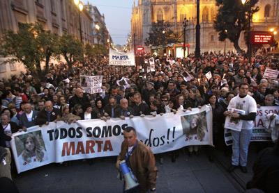 Concentración en Sevilla el pasado 24 de enero en repulsa por la condena a 20 años a Carcaño.