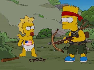 Una escena del episodio 500 de 'Los Simpsons'.