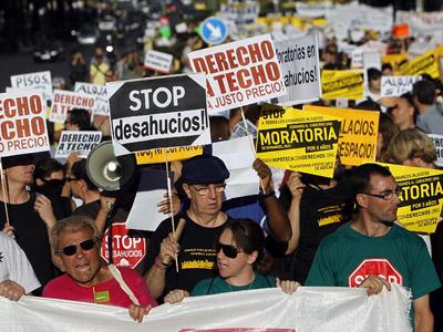 Manifestación en contra de los desahucios. Mónica patxot
