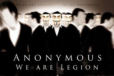 Una de las imágenes divulgadas por Anonymous.